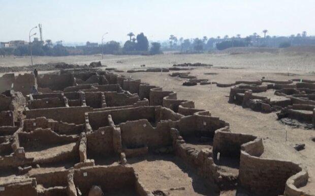 3.000 Jahre alte Stadt in Ägypten. Quelle: Screenshot Youtube