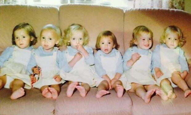 Dem Paar wurden sechs Mädchen auf einmal geboren: Wie sie 35 Jahre später aussehen