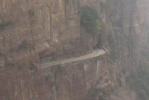 Guoliang-Tunnel. Quelle: Screenshot Youtube