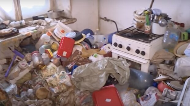 Müll im Haus. Quelle: Screenshot YouTube