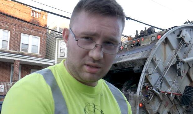 Müllwagenfahrer. Quelle: YouTube Screenshot