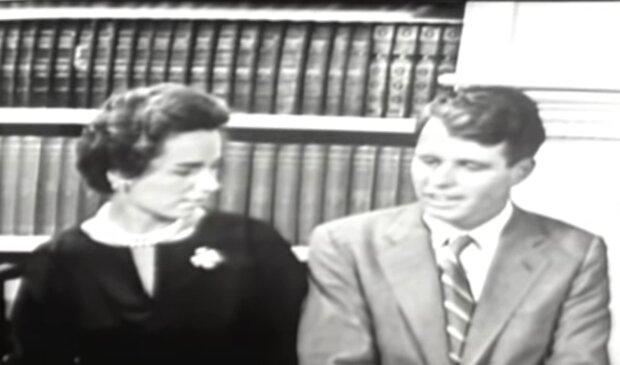 Ethel und Robert Kennedy. Quelle: YouTube Screenshot