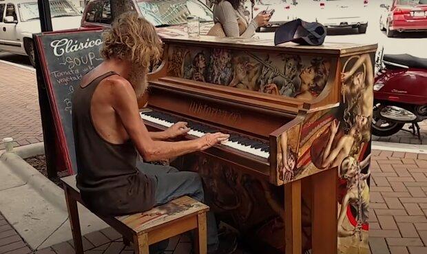 Donald Gould, der obdachlose 'Klaviermann'