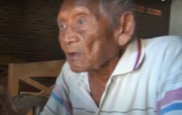 Ältester lebender Mann. Quelle: YouTube Screenshot