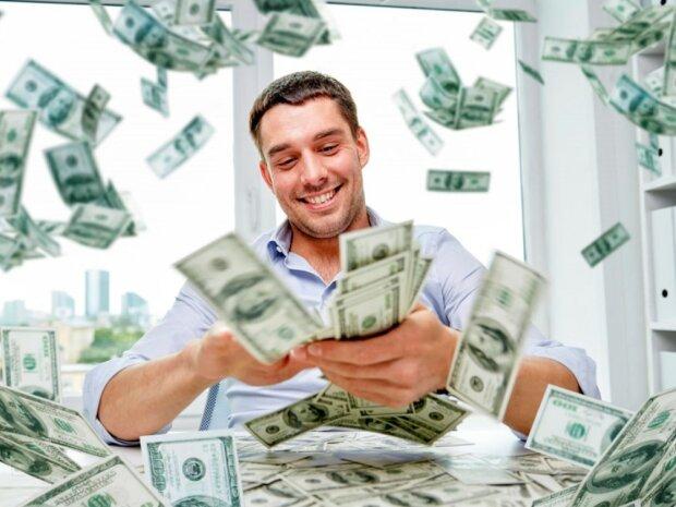 Der Mann hat das Geld gewonnen, weil die Lose für seine Lieblingslotterie ausgegangen waren